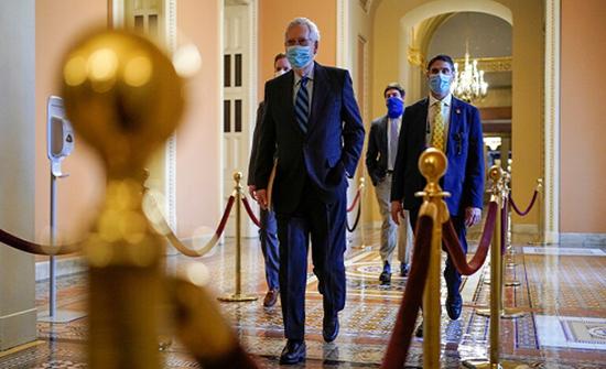 زعيم الجمهوريين في مجلس الشيوخ يدعو لمنح ترامب أسبوعين للاستعداد للمحاكمة