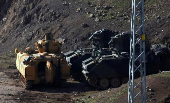 تركيا.. وصول مزيد من التعزيزات العسكرية إلى الحدود مع سوريا