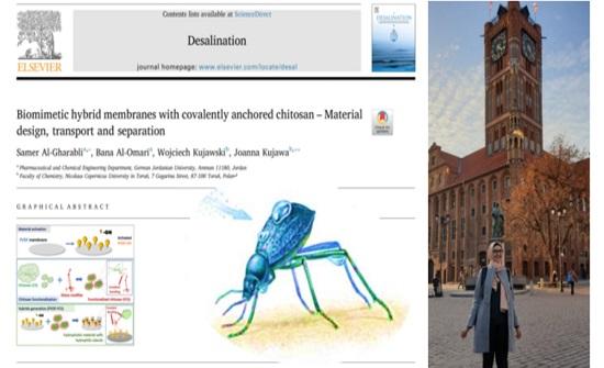 نشر ورقة علمية لطالبة بالجامعة الألمانية الأردنية بمجلة عالمية