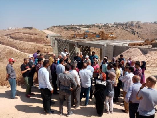 زيارة علمية إلى مشروع إنشاء جسر وادي الغفر - طريق اربد الدائري