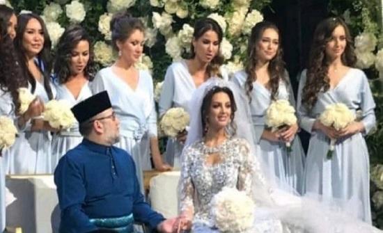 فيديو مسرّب من حفل زفاف ملك ماليزيا وملكة جمال موسكو