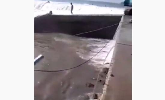 """شاهدوا : إعصار """"مها"""" في سلطنة عمان"""