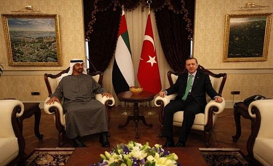 اتصال هاتفي بين أردوغان ومحمد بن زايد لبحث علاقات البلدين