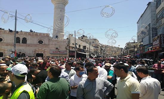 صور : وقفة احتجاجية رافضة لخطة ضم غور الأردن من وسط البلد