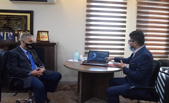 مدير عام مؤسسة أبواب الرقمنة يزور جامعة إربد الأهلية