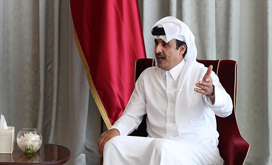 أمير قطر يبحث مع وفد أمريكي قضايا إقليمية ودولية