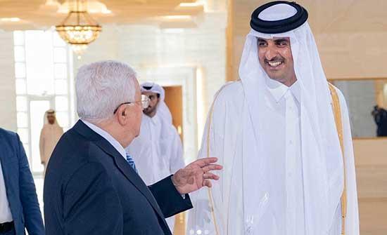 """تميم يؤكد لعباس استمرار جهود وقف """"العدوان"""" الإسرائيلي على الفلسطينيين والأقصى"""