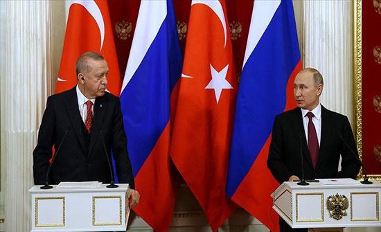 موسكو : بوتين يؤكد لأردوغان ضرورة الحفاظ على وحدة وسيادة سوريا