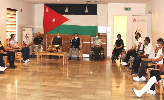 الأمير مرعد يلتقي الفريق الرياضي للهيئة الهاشمية للمصابين العسكريين
