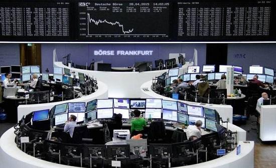 تراجع الأسهم الأوروبية بسبب بيانات المانية ضعيفة