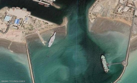 """الأقمار الصناعية تكشف: إيران تبني حاملة طائرات """"مزيفة"""""""
