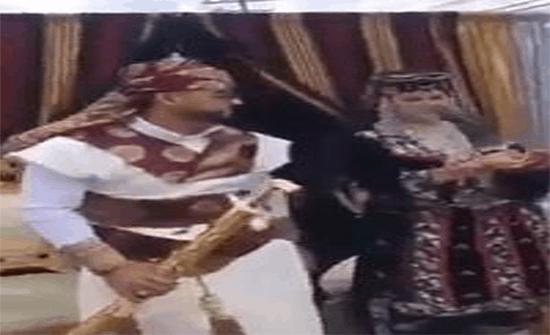 شاهد: شاب يمني يتزوج من أمريكية في ولاية ميشيغان بتقاليد الزفاف اليمنية