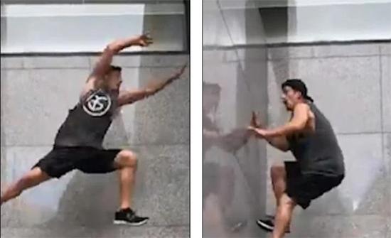 فيديو : لاعب باركور يتحدى الجاذبية ويتسلق الجدران في استراليا
