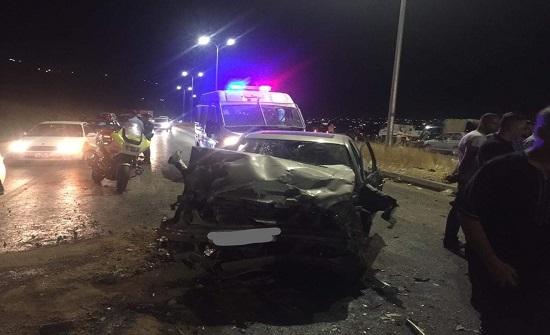 مصرع عائلة فلسطينية كاملة اثر حادث سير في الزرقاء