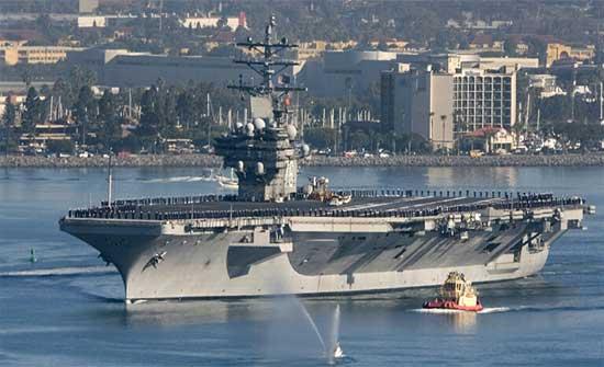 تقرير: واشنطن ترسل حاملة طائرات لدعم انسحاب قواتها من أفغانسان