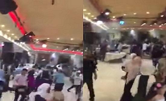 بالفيديو.. عراك عنيف وإصابات في حفل زفاف بسبب رقصة الدبكة