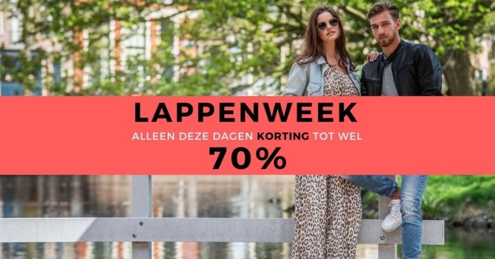 Tot 70% korting tijdens LAPPENWEEK!