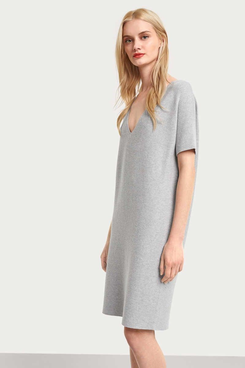 17eb6885259d4a Uitverkocht  Drykorn salita jurk grijs - Drykorn ...