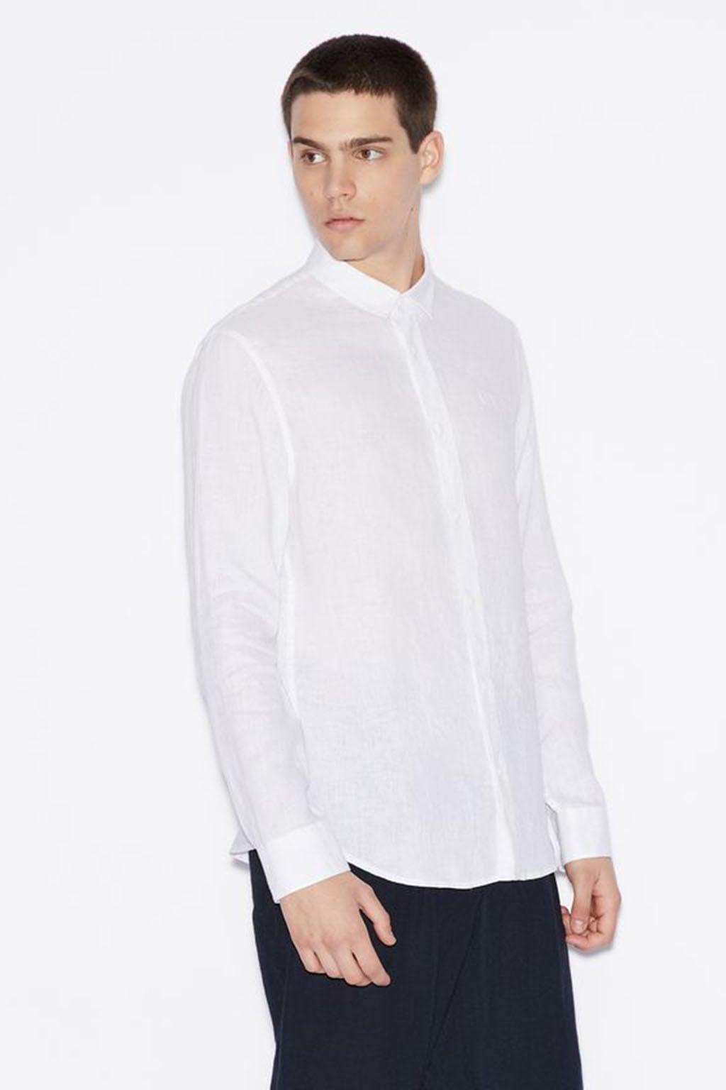 Linnen Overhemd Wit.Armani Exchange Linnen Overhemd Blauw Koop Je Online Kellyjeans Nl