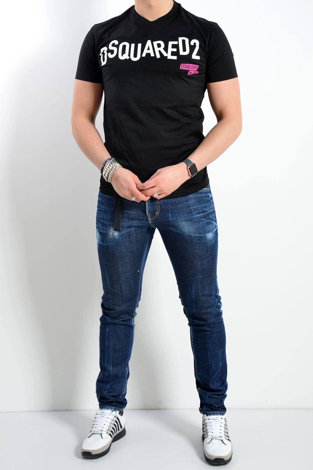 Logo Online Wit Dsquared Shirt Koop Zwart Je T Bij wIqw0xpCt5