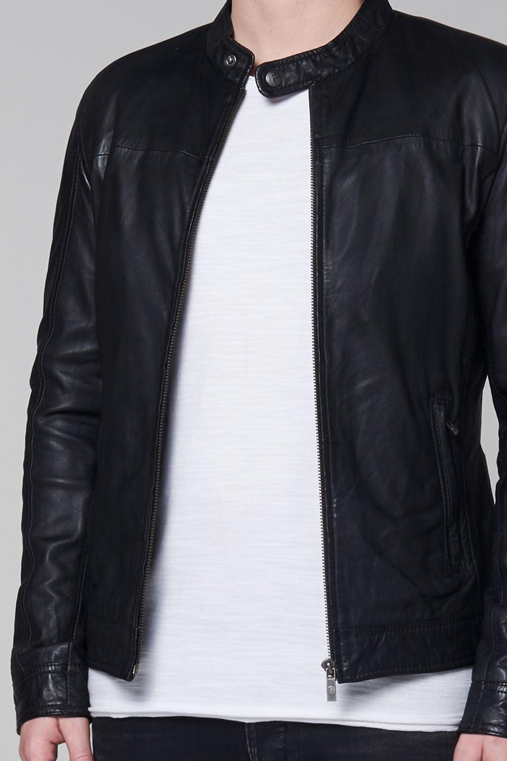 Goosecraft gallery062 leren jas zwart M Goosecraft gallery062 leren jas zwart
