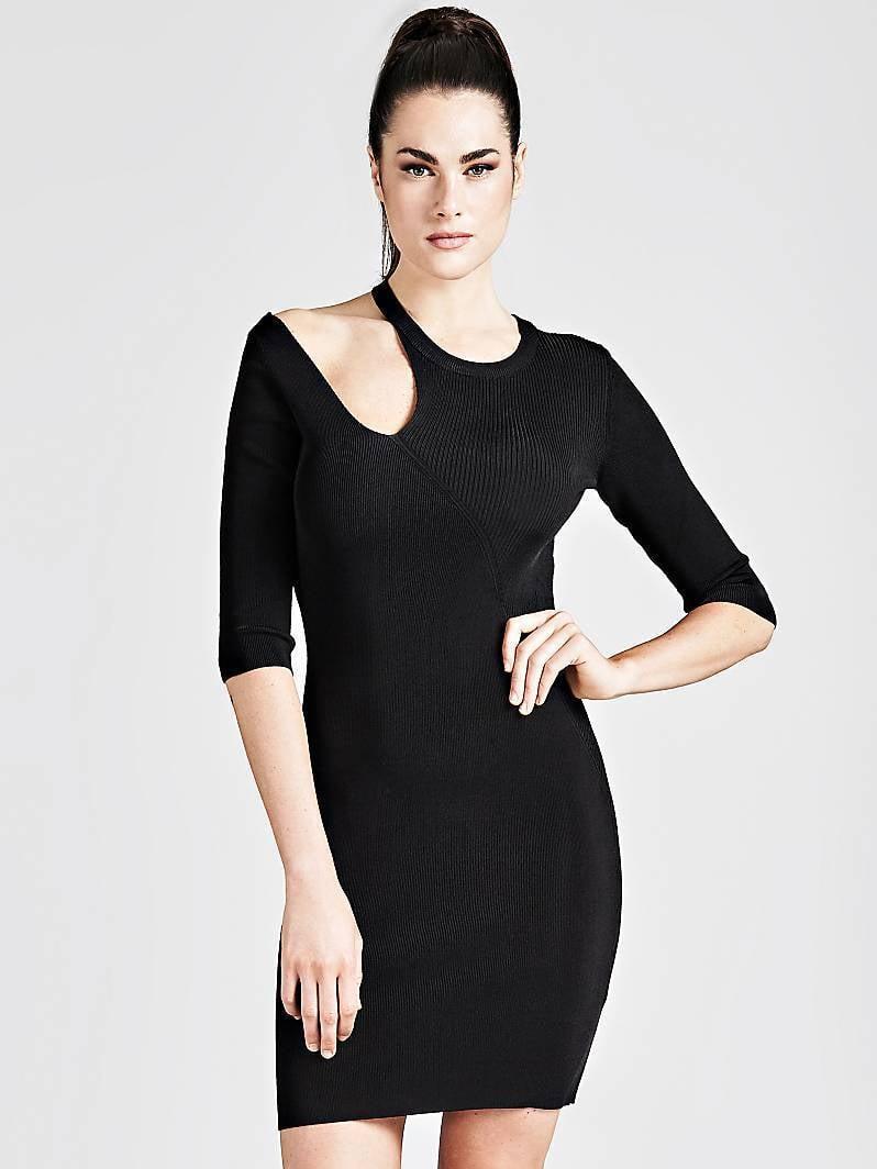 64b13dcd294577 Guess amira jurk zwart koop je online bij Kellyjeans