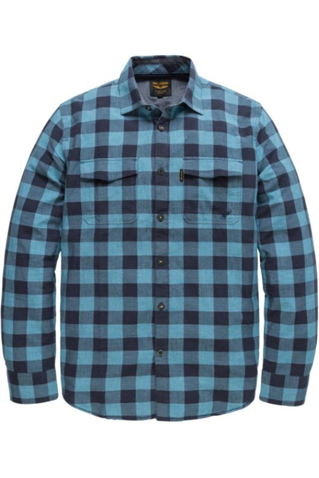 Overhemd Blauw.Pme Legend Grindle Check George Overhemd Blauw Koop Je Kellyjeans Nl