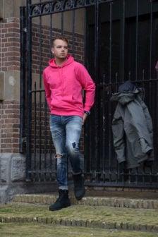 Diesel s-gim hoodie pink