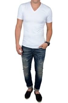 White t-shirt men v-neck