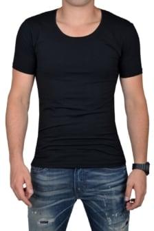 Black t-shirt men o-neck