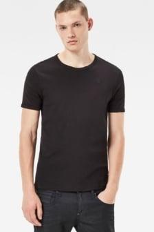 Basic 2-pck white r-neck 990/black 016