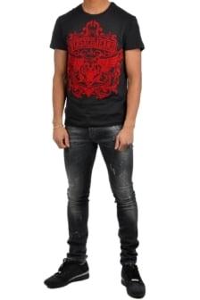 Versace jeans print mt17flock slim mc