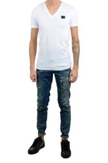 Antony morato sport v-neck shirt white
