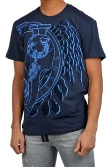Versace jeans print mt20 flock regular mc blue