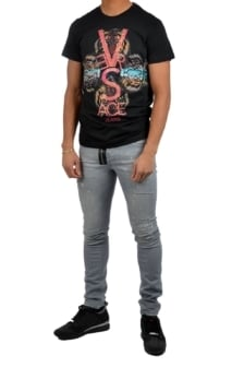 Versace jeans print 2 slim mc black