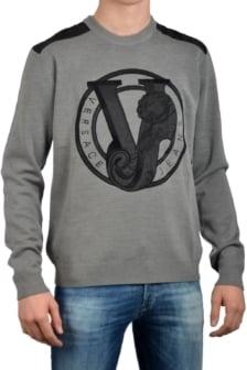 Versace jeans round sweater grey