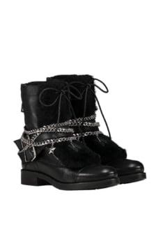 Nikkie fake fur delfina boots black