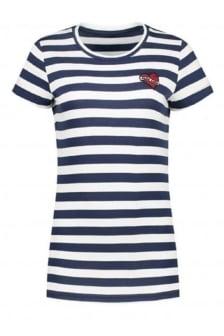 Nikkie by nikkie striped love t-shirt navy/off white