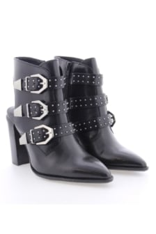 Bronx shoes cow vintage oily boots black