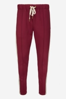 Off the pitch trackpants maroon/sand