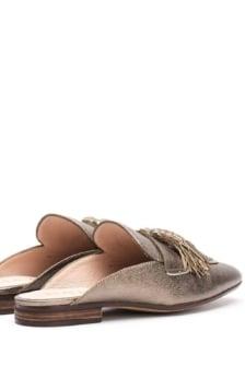 Unisa old gold leather loafer
