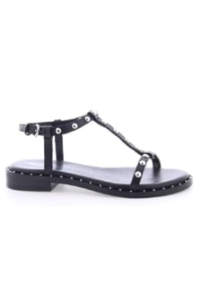 Bronx shoes cow vintage black sandal