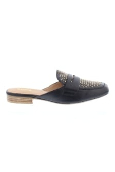 Bronx black leather low shoe