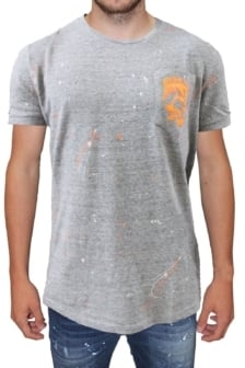 My brand spots skull thirteen t-shirt grey