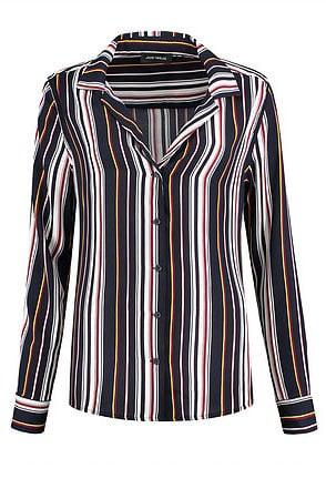 Jade twelve la stripe blouse black iris - Jade Twelve
