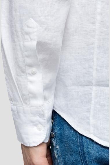 Linnen Overhemd Wit.Replay Linnen Overhemd Wit Koop Je Online Bij Kellyjeans Nl