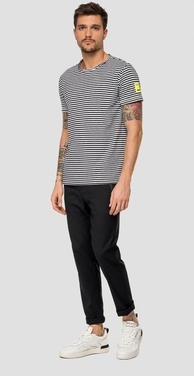 Replay striped t-shirt zwart/wit - Replay