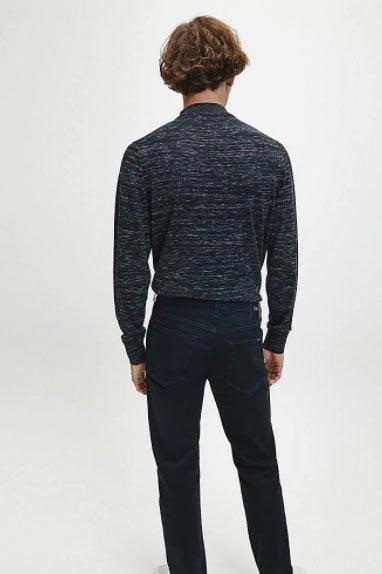 Calvin klein heather mock neck zwart - Calvin Klein