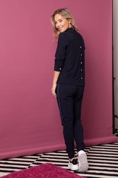 Studio anneloes back blouse dark blue - Studio Anneloes
