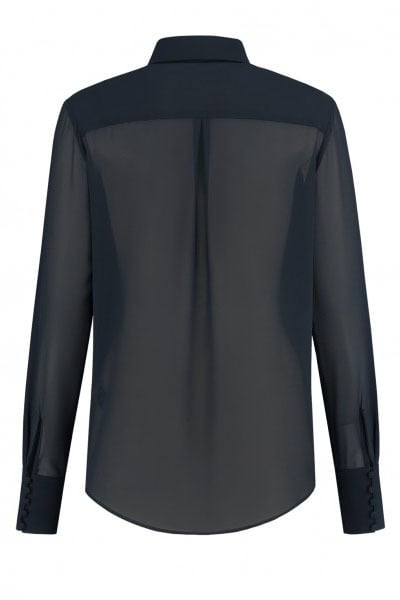 Fifth house raffia blouse donker blauw - Fifth House
